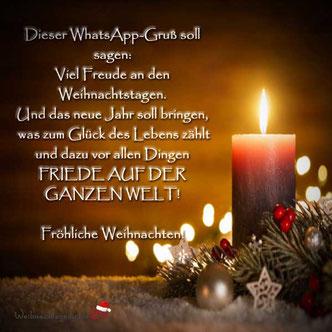 Weihnachtsgrüße per WhatsApp 06