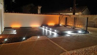 éclairage extérieur de maison réalisé par art'elec en charente