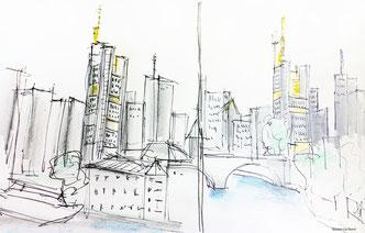Schnellskizzen von Frankfurt/2014 LH