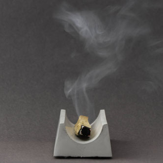 Modern Concrete Palo Santo Incense Stick Burner By PASiNGA Design