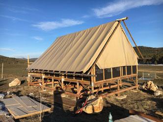 Rénovation de Lodge (bardage pin Cl4 brun)