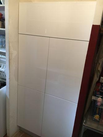 Pose de meuble dans un cellier