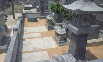 墓地、墓石清掃