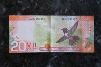 Ein Kolibri ziert den Zwanzigtausender...