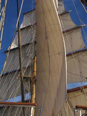 Wenn die Winde günstig standen, wurden alle Segel gehisst!