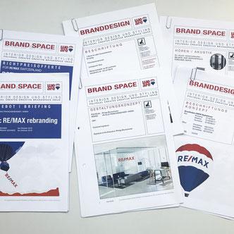 Screenshot von Gestaltungsdossiers für Remax Switzerland