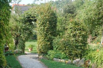 Eingang zu Schmons Gartenparadies