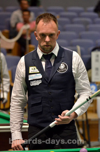 Thorsten Hohmann goes into last 32 at All Japan Championship 2015.