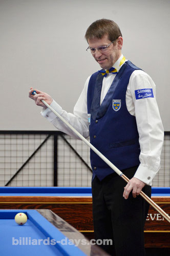 Torbjorn Blomdahl won 3 Cushion World Championship 2015 ※写真は2013ヤマニカップ