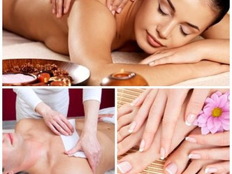 Behandlungs-Übersicht: Massage, Spa, Wellness, Pedicure, Kosmetikstudio