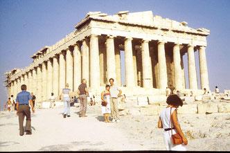 Auf der Akropolis von Athen 1975