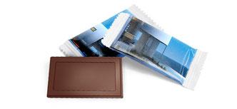 Schoggi als Give away, Schokoladen als Werbeträger online einkaufen bedruckt