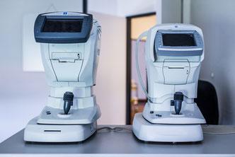 Diagnostikgeräte bei den  Augenärzten im Stadtturm