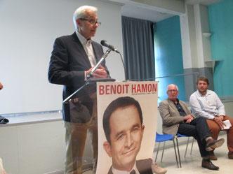 Christian MARTIN, ancien Maire de Draguignan, Bernard GINER, Premier secrétaire fédéral de la Fédération du Parti Socialiste dans le Var et Thomas ROLLER, porte-parole de Benoît HAMON pour le Var.