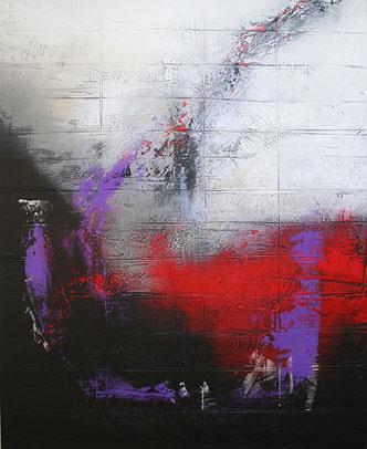 Carole Bécam - Artiste peintre - Série Des Lettres - Mouvement perpétuel