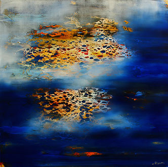 Carole Bécam - Artiste peintre - Série Espace d'un rêve - 2017 - Toile originale
