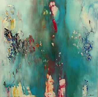 Carole Bécam - Artiste peintre - Série Espace d'un rêve - 2015 - Huiles sur toile