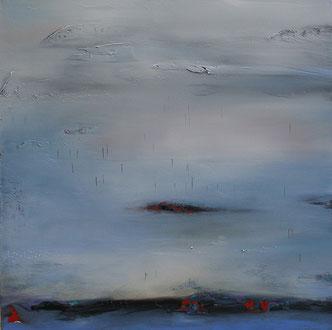 Carole Bécam - Artiste peintre - Série Espace d'un rêve - Atelier France