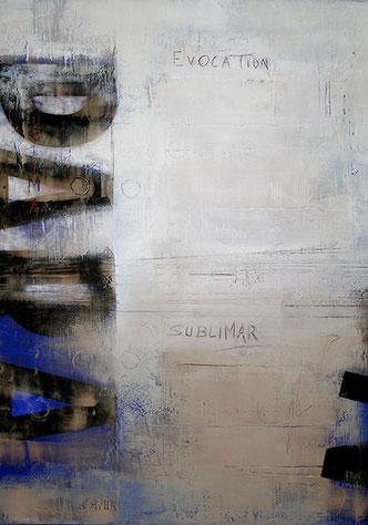 Carole Bécam - Artiste peintre - Série Des Lettres - Sublimar