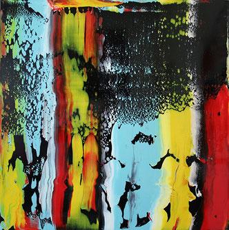Carole Bécam - Artiste peintre - Série Le subtil aléatoire - Noir numéro 1 -Le Pouliguen