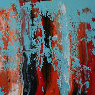 Carole Bécam - Artiste peintre - Série Le subtil aléatoire - 2014 - Le Pouliguen