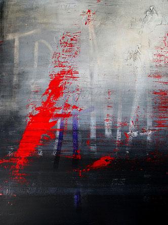 Carole Bécam - Artiste peintre - Série Des Lettres - Trama