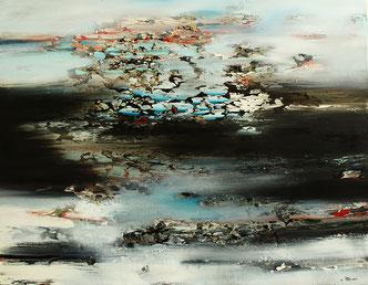 Carole Bécam - Artiste peintre - Série Espace d'un rêve - Huile sur toile - 2016