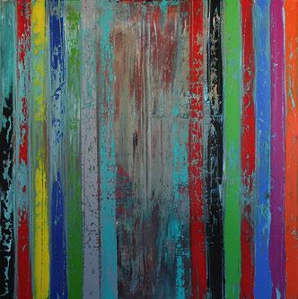 Carole Bécam - Artiste peintre - Série Bandes colorées - Huiles sur toiles