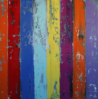 Carole Bécam - Artiste peintre - Série Bandes colorées - Huiles sur toile
