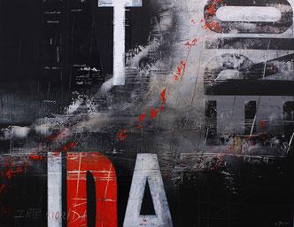 Carole Bécam - Artiste peintre - Série Des Lettres - Interiodidad