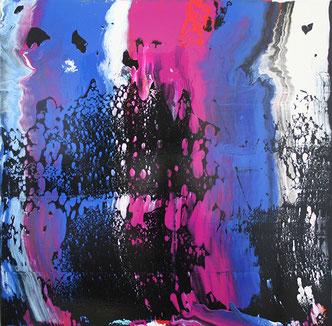 Carole Bécam - Artiste peintre - Série Le subtil aléatoire - Noir numéro 2 -Le Pouliguen