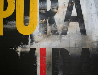 Carole Bécam - Artiste peintre - Série Des Lettres - Pura