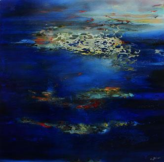 Carole Bécam - Artiste peintre - Série Espace d'un rêve - Huile sur toile originale