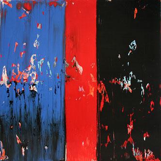 Carole Bécam - Artiste peintre - Série Bandes colorées - Couleurs - Huile sur toile