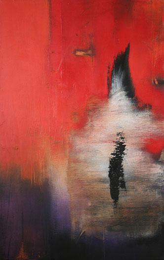 Carole Bécam - Artiste peintre - Série Les Volcaniques - Huile sur toile