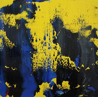 Carole Bécam - Artiste peintre - Série Le subtil aléatoire - Jaune - Le Pouliguen