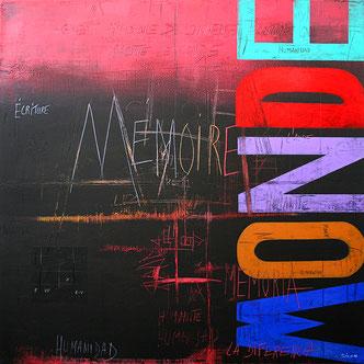 Carole Bécam - Artiste peintre - Série Des Lettres - Mémoire du Monde