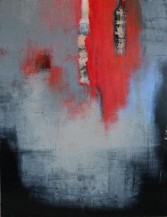 Carole Bécam - Artiste peintre - Série Les Volcaniques - Sans titre