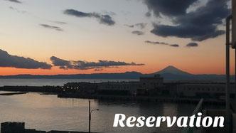三崎港から富士山