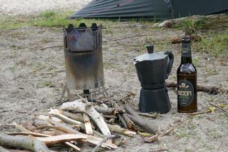 kochen, holzofen, pyrolyseofen, kaffee, bier