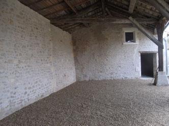 Moellons apparents à Jarnac, Cognac, Charente