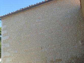 rejointement de moellons à Jarnac, Cognac