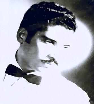 Daniel Santos.  Foto promocional artística de la época.