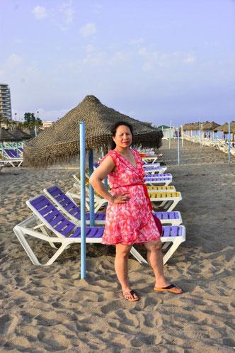 Abends noch kurz zum Strand - recht viel mehr kannst du in Torremolinos auch nicht unternehmen. Bars, Restaurants in rauen Mengen, aber mehr auch nicht...