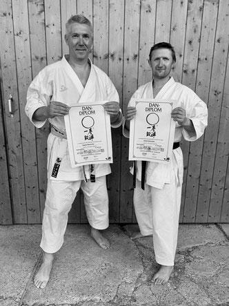 Hagen und André mit ihrem neuen 6. Dan-Diplom