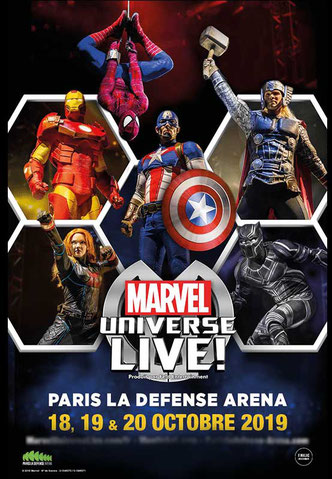 Marvel et les super-héros à l'accor hotels arena BERCY