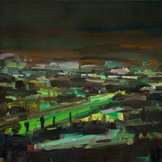 2009 Figueroa Street Öl auf Nessel 100 x 100 cm