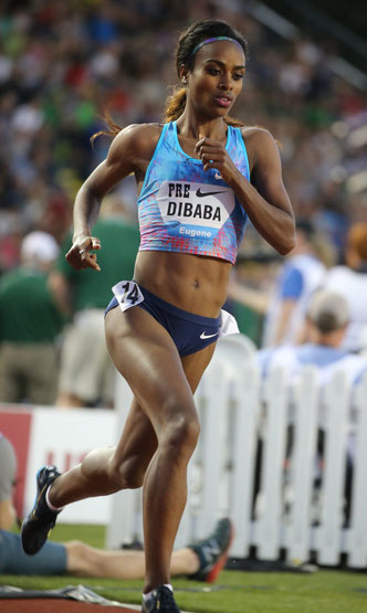 Genzebe Dibaba Ethiopia athlete 1000m 1500m 2000m 3000m 5000m 10000m olympic medallist indoor outdoor nike athlete Pineda Sport