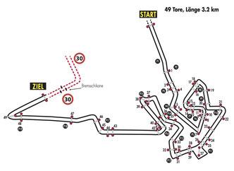 Streckenplan Frauenfeld 2014