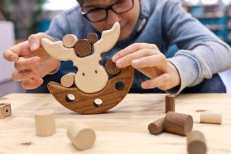 Jeu bois massif motricité fine Montessori